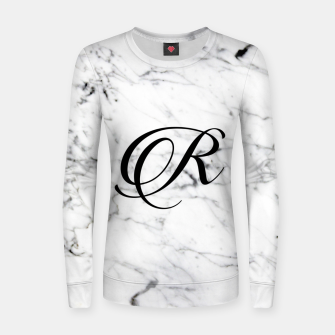 Miniatur Abstract natural marble texture and alphabet R Women sweater, Live Heroes