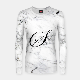 Miniatur Abstract natural marble texture and alphabet S Women sweater, Live Heroes