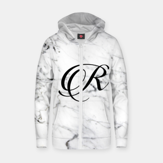 Miniaturka Abstract natural marble texture and alphabet R Zip up hoodie, Live Heroes