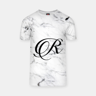 Miniaturka Abstract natural marble texture and alphabet R T-shirt, Live Heroes