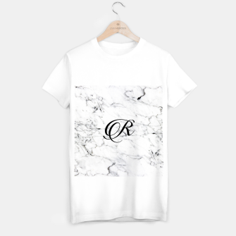 Thumbnail image of Abstract natural marble texture and alphabet R T-shirt regular, Live Heroes