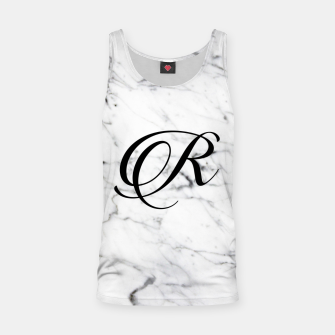 Thumbnail image of Abstract natural marble texture and alphabet R Tank Top, Live Heroes