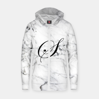 Miniaturka Abstract natural marble texture and alphabet S Zip up hoodie, Live Heroes