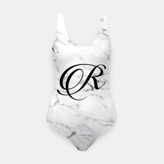 Miniature de image de Abstract natural marble texture and alphabet R Swimsuit, Live Heroes