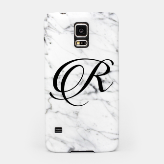 Thumbnail image of Abstract natural marble texture and alphabet R Samsung Case, Live Heroes