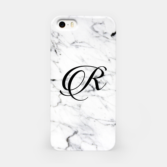 Imagen en miniatura de Abstract natural marble texture and alphabet R iPhone Case, Live Heroes