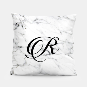Miniaturka Abstract natural marble texture and alphabet R Pillow, Live Heroes