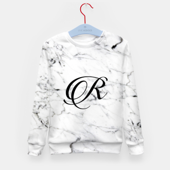 Thumbnail image of Abstract natural marble texture and alphabet R Kid's sweater, Live Heroes