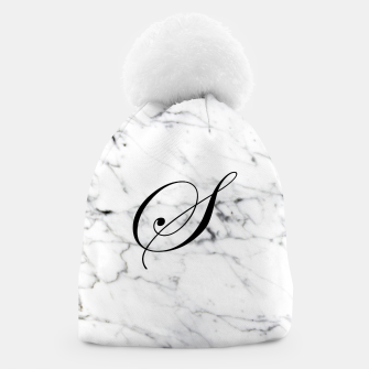 Miniature de image de Abstract natural marble texture and alphabet S Beanie, Live Heroes