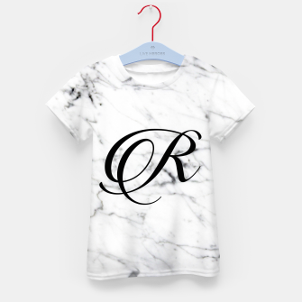 Miniatur Abstract natural marble texture and alphabet R Kid's t-shirt, Live Heroes