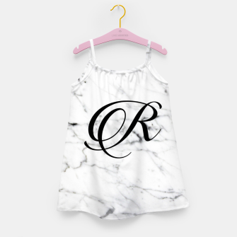 Miniature de image de Abstract natural marble texture and alphabet R Girl's dress, Live Heroes