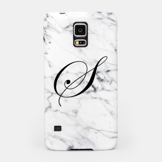 Thumbnail image of Abstract natural marble texture and alphabet S Samsung Case, Live Heroes