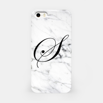 Thumbnail image of Abstract natural marble texture and alphabet S iPhone Case, Live Heroes