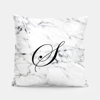 Miniaturka Abstract natural marble texture and alphabet S Pillow, Live Heroes