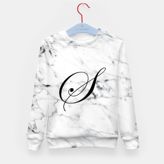 Miniature de image de Abstract natural marble texture and alphabet S Kid's sweater, Live Heroes
