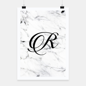 Miniature de image de Abstract natural marble texture and alphabet R Poster, Live Heroes