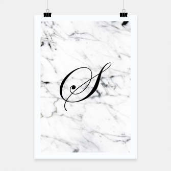 Miniature de image de Abstract natural marble texture and alphabet S Poster, Live Heroes