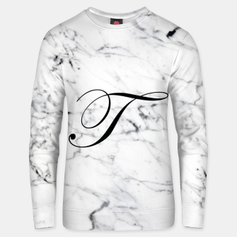 Miniature de image de Abstract natural marble texture and alphabet T Unisex sweater, Live Heroes