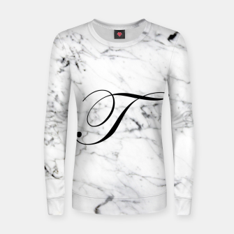 Miniatur Abstract natural marble texture and alphabet T Women sweater, Live Heroes