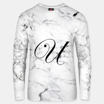 Miniaturka Abstract natural marble texture and alphabet U Unisex sweater, Live Heroes