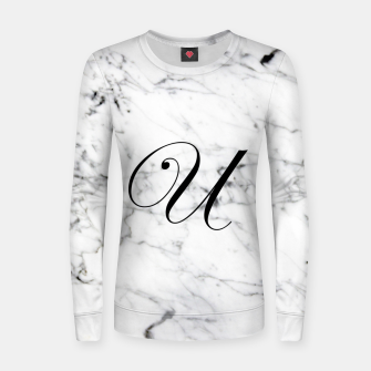 Miniatur Abstract natural marble texture and alphabet U Women sweater, Live Heroes