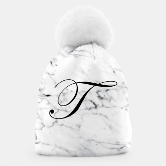 Miniature de image de Abstract natural marble texture and alphabet T Beanie, Live Heroes