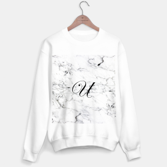 Miniature de image de Abstract natural marble texture and alphabet U Sweater regular, Live Heroes