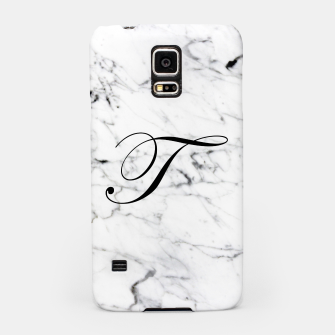 Thumbnail image of Abstract natural marble texture and alphabet T Samsung Case, Live Heroes