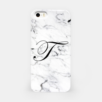 Imagen en miniatura de Abstract natural marble texture and alphabet T iPhone Case, Live Heroes