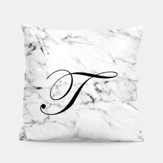 Miniaturka Abstract natural marble texture and alphabet T Pillow, Live Heroes
