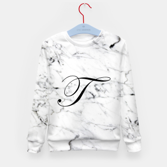 Thumbnail image of Abstract natural marble texture and alphabet T Kid's sweater, Live Heroes
