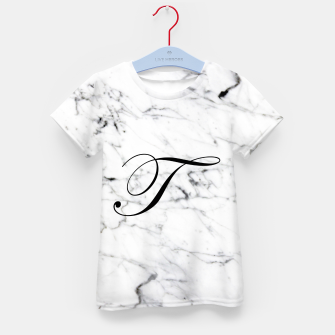 Miniatur Abstract natural marble texture and alphabet T Kid's t-shirt, Live Heroes