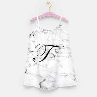 Miniature de image de Abstract natural marble texture and alphabet T Girl's dress, Live Heroes