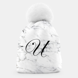 Miniature de image de Abstract natural marble texture and alphabet U Beanie, Live Heroes