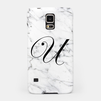 Thumbnail image of Abstract natural marble texture and alphabet U Samsung Case, Live Heroes