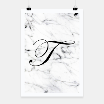 Miniature de image de Abstract natural marble texture and alphabet T Poster, Live Heroes