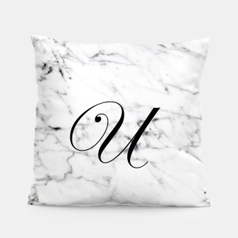 Miniaturka Abstract natural marble texture and alphabet U Pillow, Live Heroes