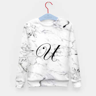 Thumbnail image of Abstract natural marble texture and alphabet U Kid's sweater, Live Heroes