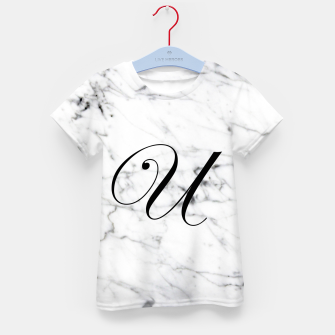 Miniatur Abstract natural marble texture and alphabet U Kid's t-shirt, Live Heroes