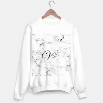 Miniature de image de Abstract natural marble texture and alphabet V Sweater regular, Live Heroes