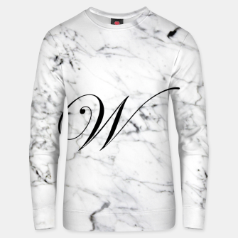 Miniature de image de Abstract natural marble texture and alphabet W Unisex sweater, Live Heroes
