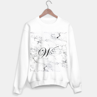 Miniature de image de Abstract natural marble texture and alphabet W Sweater regular, Live Heroes