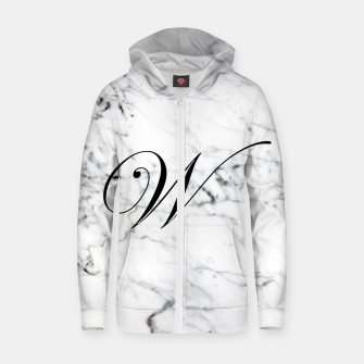 Miniaturka Abstract natural marble texture and alphabet W Zip up hoodie, Live Heroes