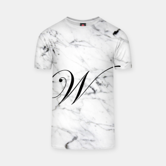 Miniaturka Abstract natural marble texture and alphabet W T-shirt, Live Heroes