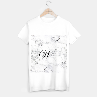 Thumbnail image of Abstract natural marble texture and alphabet W T-shirt regular, Live Heroes