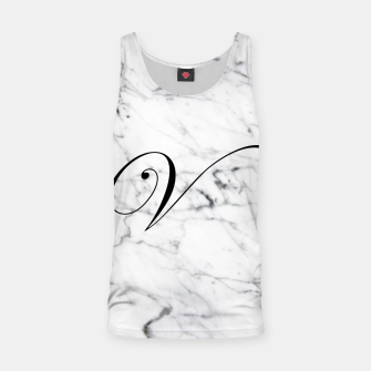 Miniature de image de Abstract natural marble texture and alphabet V Tank Top, Live Heroes