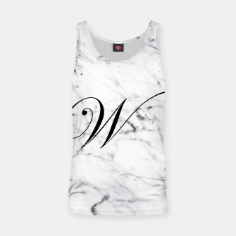 Miniature de image de Abstract natural marble texture and alphabet W Tank Top, Live Heroes