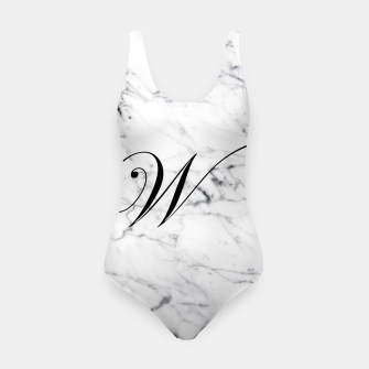 Miniature de image de Abstract natural marble texture and alphabet W Swimsuit, Live Heroes