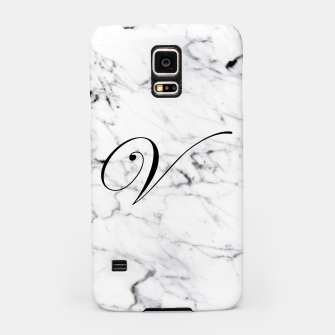Thumbnail image of Abstract natural marble texture and alphabet V Samsung Case, Live Heroes