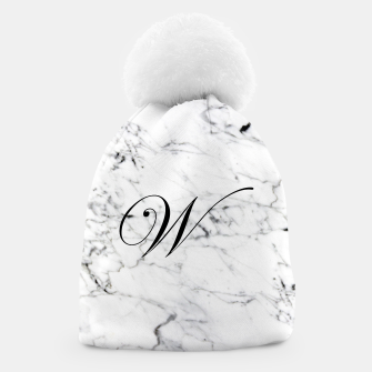 Miniature de image de Abstract natural marble texture and alphabet W Beanie, Live Heroes